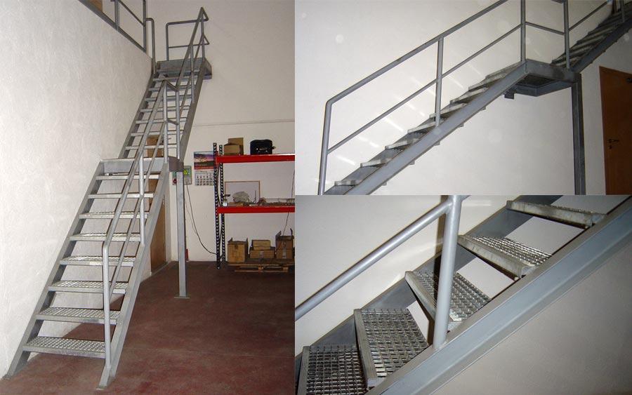 Dise o y construcci n de escaleras met licas en girona for Construccion de escaleras de hierro